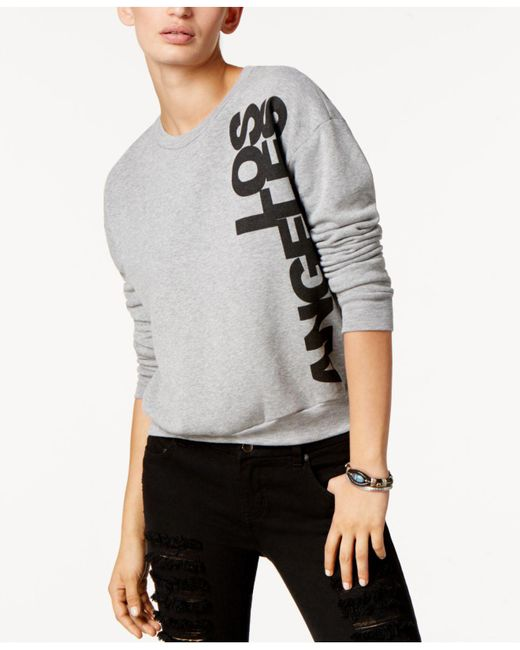Project Social T | Gray Los Angeles Graphic-print Sweatshirt | Lyst