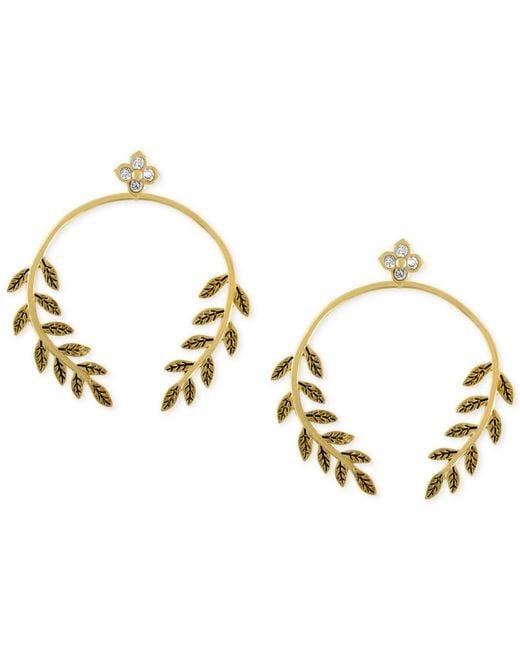 RACHEL Rachel Roy | Metallic Gold-tone Vine Drop Earrings | Lyst