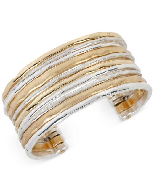 Robert Lee Morris - Metallic Two-tone Waide Banded Cuff Bracelet - Lyst