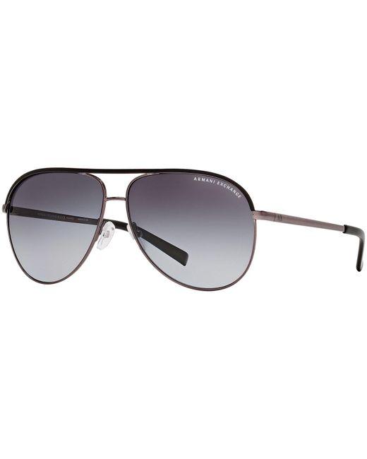Armani Exchange Black Sunglasses, Ax Ax2002p for men