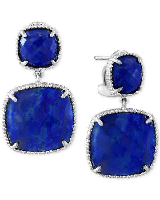 Effy Collection - Metallic Lapis Lazuli Drop Earrings (19 Ct. T.w.) In Sterling Silver - Lyst