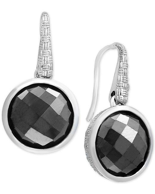 Effy Collection | Metallic Hematite (12mm) Drop Earrings In Sterling Silver | Lyst
