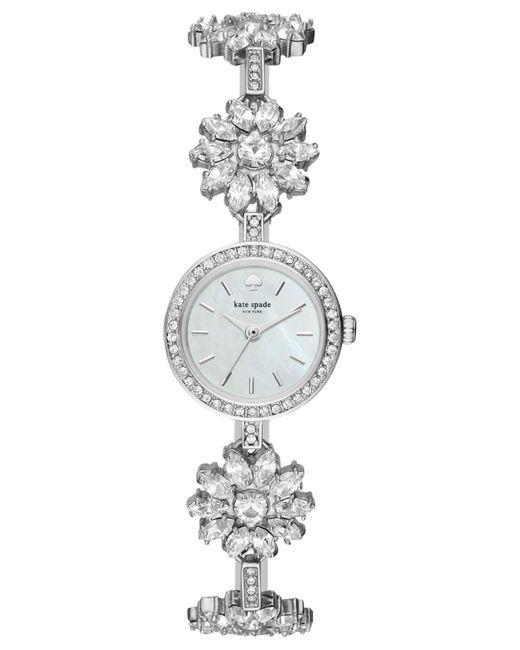 Kate Spade - Metallic Women's Daisy Chain Silver-tone Stainless Steel And Crystal Bracelet Watch 20mm Ksw1315 - Lyst