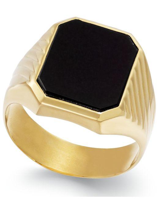 Macy's | Metallic Men's Onyx Ring In 14k Gold (3-3/4 Ct. T.w.) for Men | Lyst