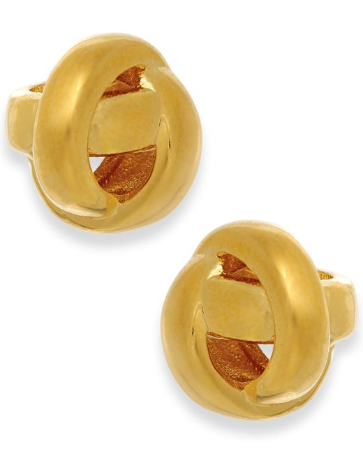 kate spade new york | Metallic Gold-tone Knot Stud Earrings | Lyst