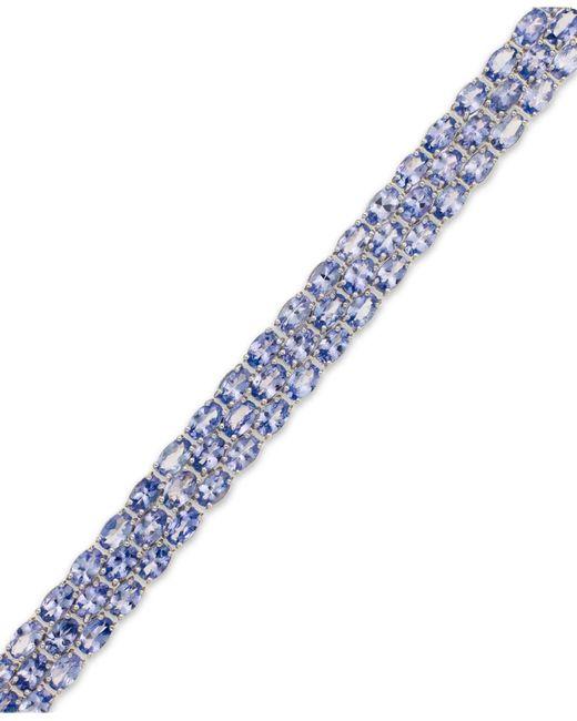 Macy's | Blue Tanzanite Three-row Bracelet In Sterling Silver (25 Ct. T.w.) | Lyst