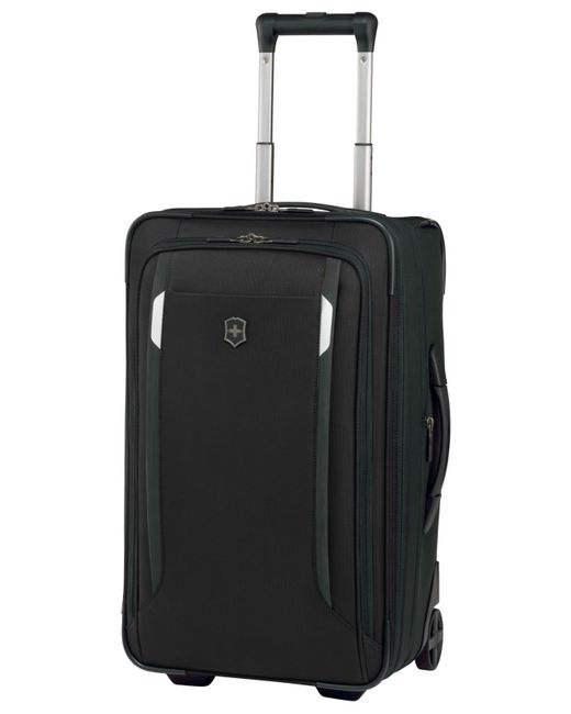 "Victorinox | Black Victorinox Werks Traveler 5.0 22"" Rolling Carry-on Expandable Suitcase for Men 