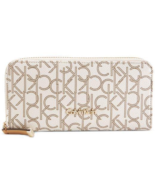 Calvin Klein   Natural Monogram Wallet   Lyst