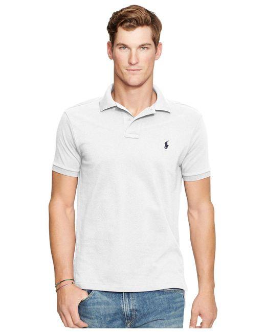 Polo Ralph Lauren   White Slim-fit Mesh Polo Shirt for Men   Lyst