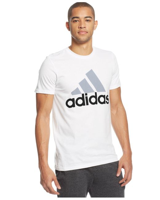 Adidas Originals | White Men's Go-to Logo T-shirt for Men | Lyst