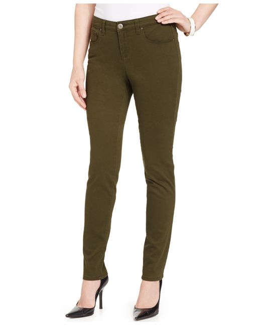 Style & Co. | Green Curvy-fit Colored Wash Skinny Jeans, Only At Macy's | Lyst
