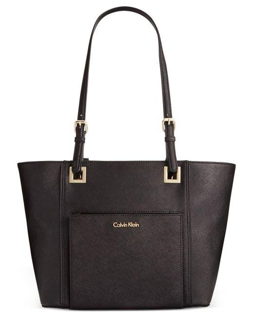 Calvin Klein | Black Saffiano Tote | Lyst