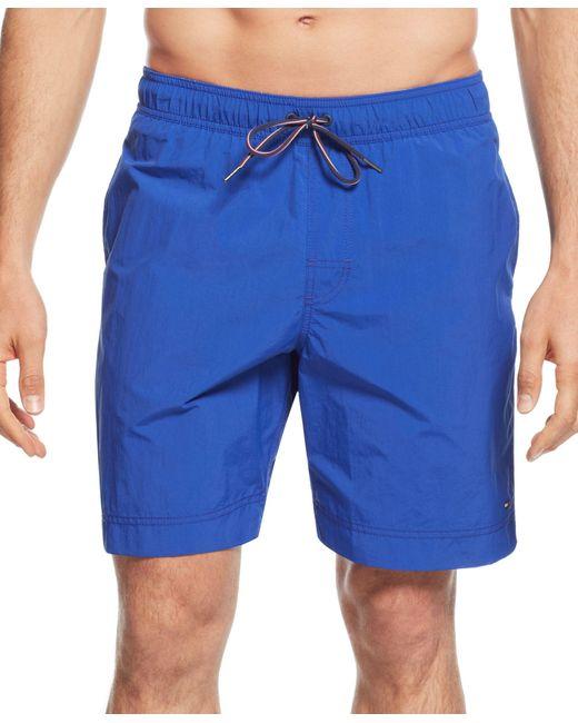 Tommy Hilfiger | Blue Men's Tommy Swim Trunks for Men | Lyst