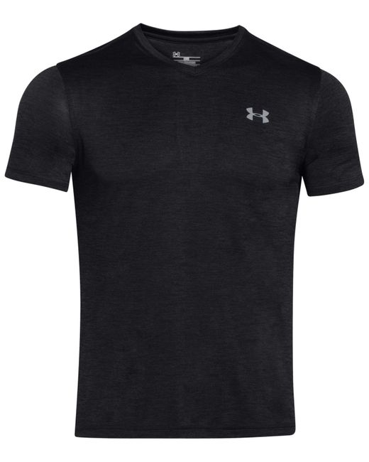 Under Armour | Black V-neck Tech T-shirt for Men | Lyst