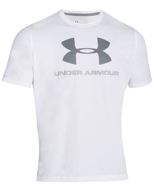 Under Armour | White Sportstyle Logo T-shirt for Men | Lyst