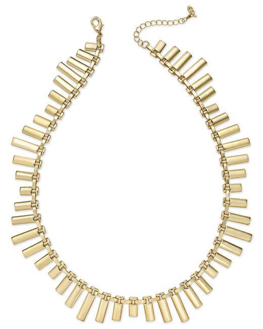 ABS By Allen Schwartz | Metallic Gold-tone Bar Collar Necklace | Lyst