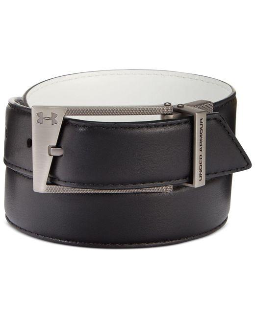 Under Armour | Black Reversible Faux-leather Golf Belt for Men | Lyst