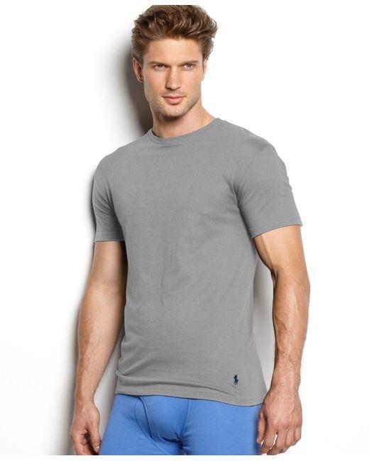 Polo Ralph Lauren | Multicolor Men's Underwear, Classic Cotton Crew Undershirts 3-pack for Men | Lyst