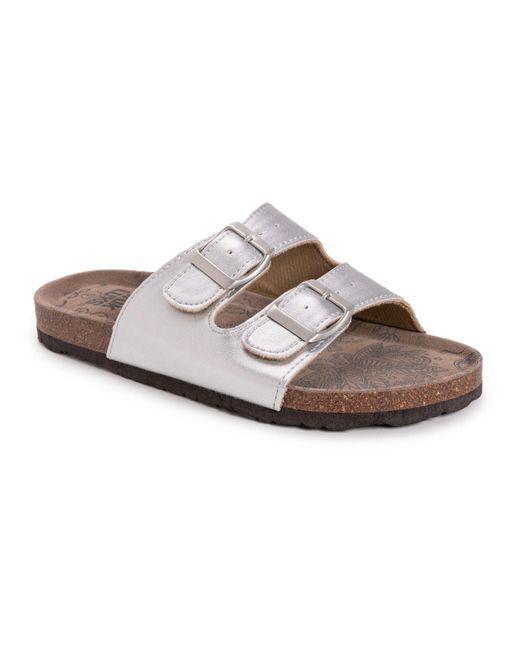 Muk Luks Multicolor Terra Turf Marla Slip-on Flat Sandals