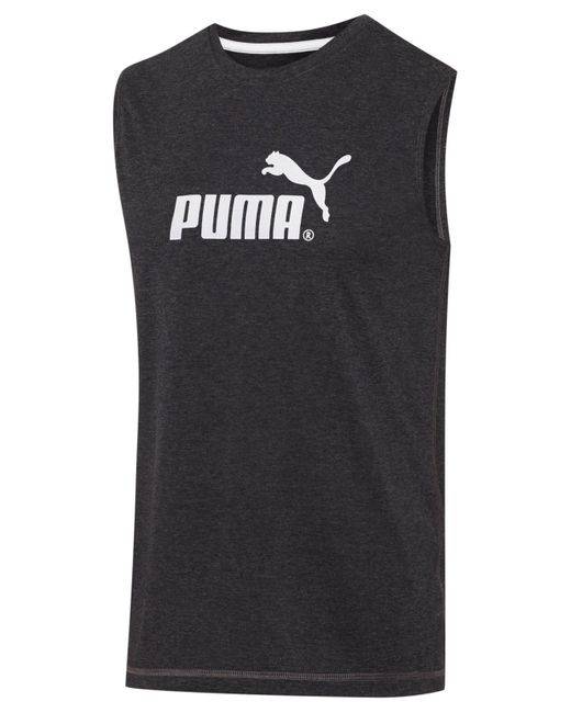 PUMA | Gray Men's Logo Muscle Tank for Men | Lyst