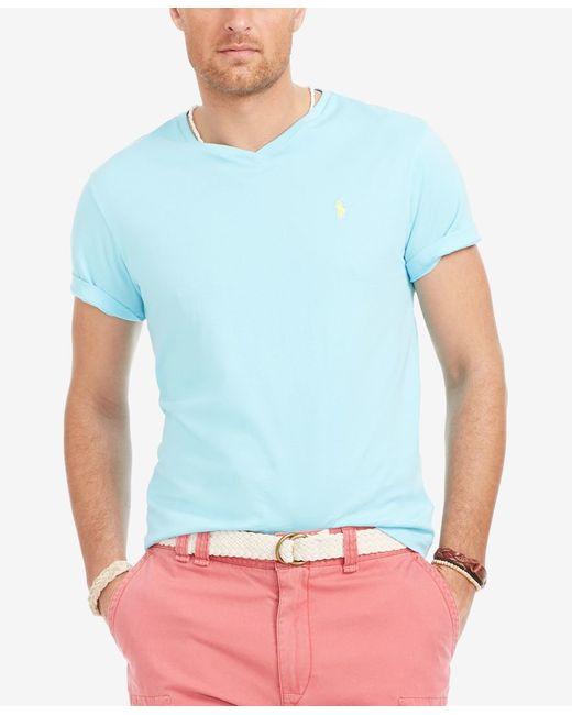 Polo Ralph Lauren | Blue Big & Tall Jersey V-neck T-shirt for Men | Lyst