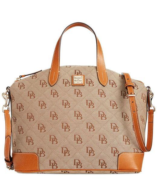 Dooney & Bourke | Brown Americana Signature Gabriella Satchel, A Macy's Exclusive Style | Lyst
