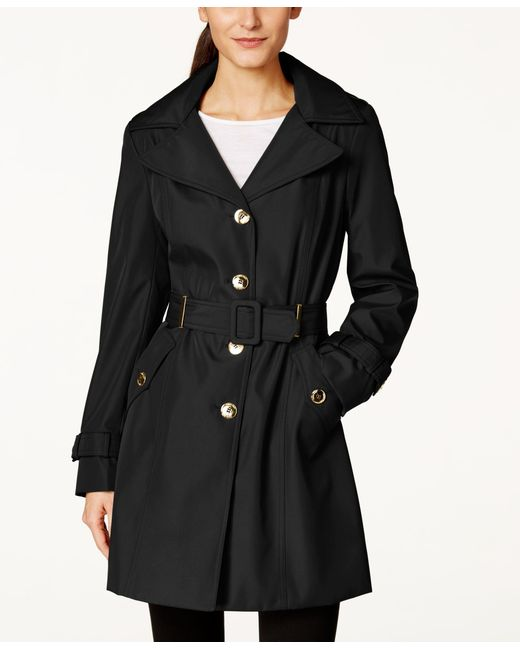 Calvin Klein | Black Hooded Single-breasted Water-resistant Trench Coat | Lyst