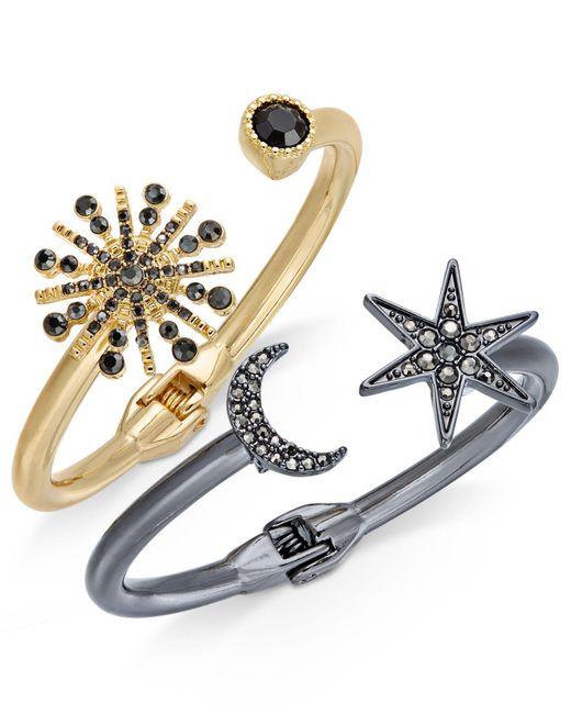 INC International Concepts | Metallic 2-pc. Set Astronomical Pavé Crystal Hinged Bracelets | Lyst