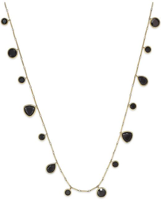 kate spade new york | Black Gold-tone Twinkle Lights Wrap Necklace | Lyst