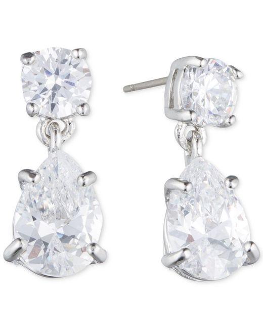 Givenchy   Metallic Silver-tone Crystal Pear-shape Earrings   Lyst
