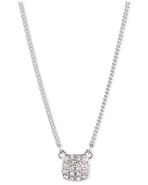 Givenchy   Metallic Crystal Pave Pendant Necklace   Lyst