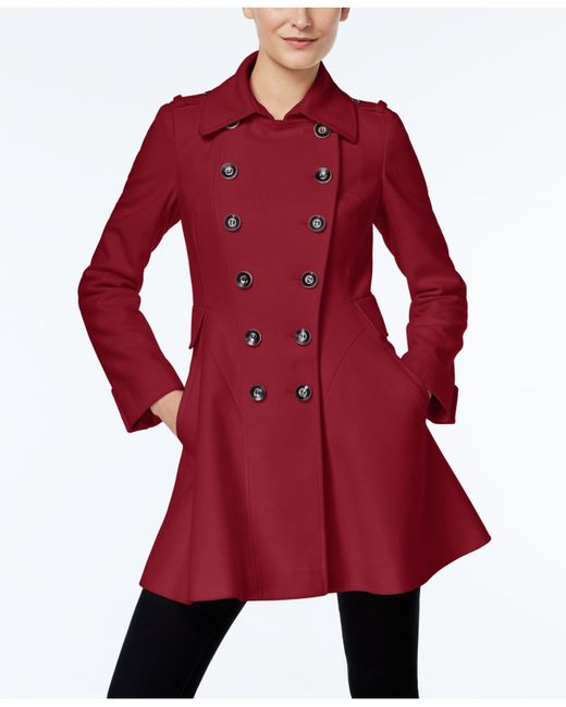 Via Spiga | Double-breasted Flared Peacoat | Lyst