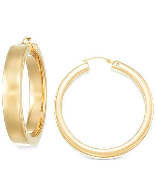 Signature Gold | Metallic Bold Hoop Earrings In 14k Gold | Lyst