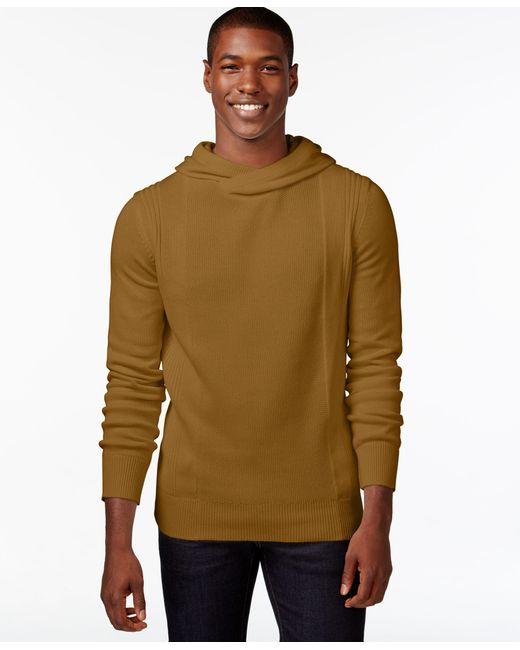 Sean John | Brown Men's Crossover Hoodie, Only At Macy's for Men | Lyst