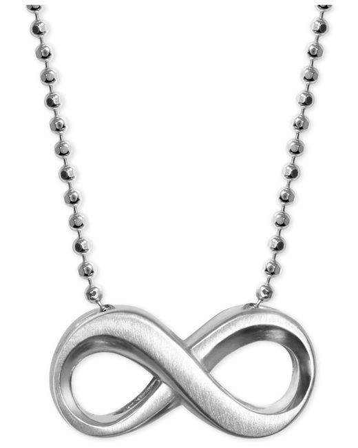 Alex Woo | Metallic Infinity Pendant Necklace In Sterling Silver | Lyst