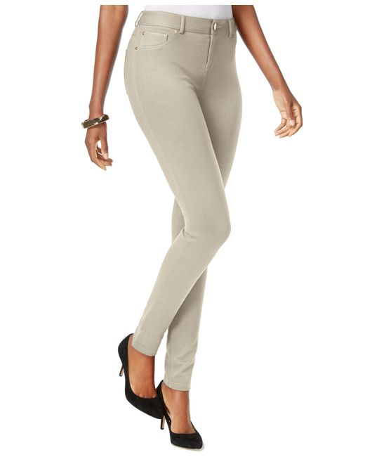 INC International Concepts | Natural Curvy Ponte Skinny Pants, Only At Macy's | Lyst
