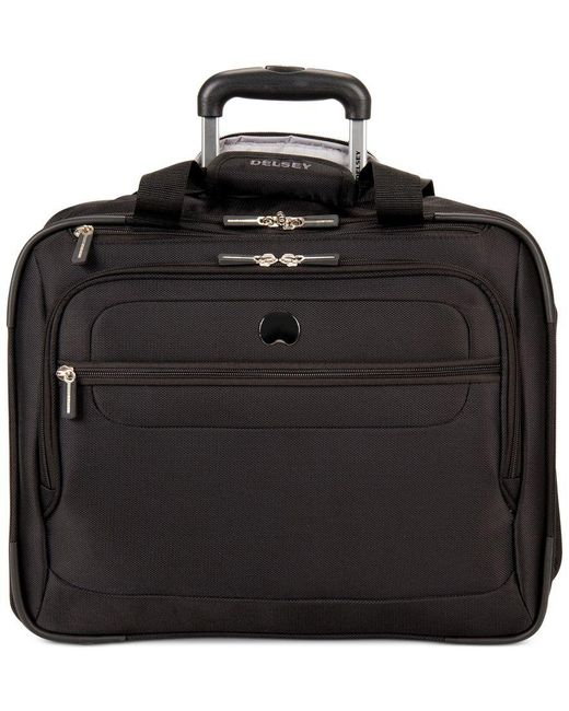 "Delsey | Black Helium Fusion 17.5"" Rolling Trolley Carry On, Only At Macy's 