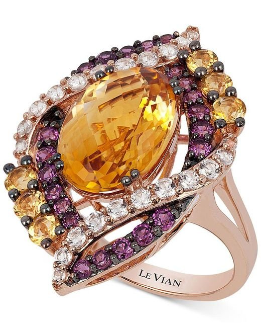 Le Vian | Pink Crazy Collection Multi-stone Ring (7-3/4 Ct. T.w.) In 14k Rose Gold, Only At Macy's | Lyst