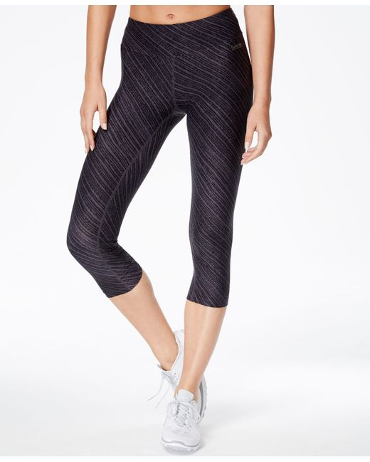 Calvin Klein | Black Performance Printed Cropped Leggings | Lyst