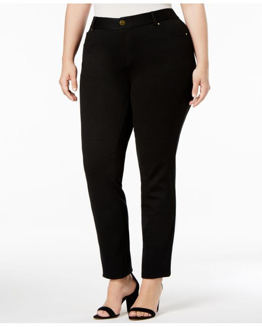 INC International Concepts - Black Plus Size Skinny Ponte Pants, Only At Macy's - Lyst