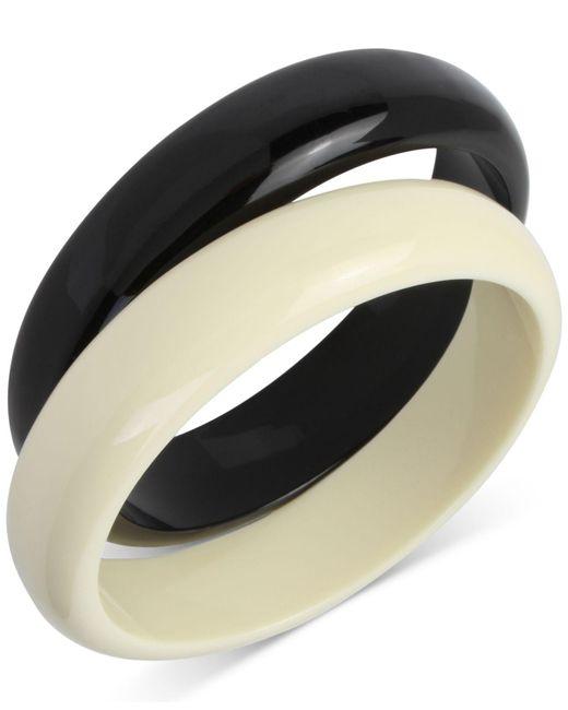 INC International Concepts | Black 2-pc. Set Colorblock Acrylic Bangle Bracelets | Lyst