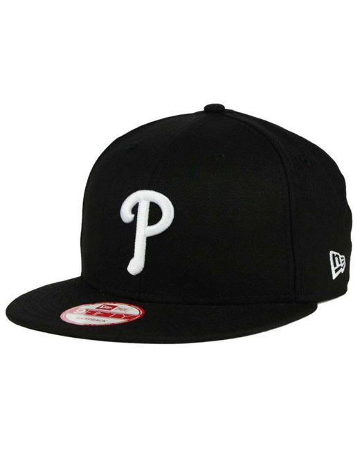 KTZ | Black Philadelphia Phillies B-dub 9fifty Snapback Cap for Men | Lyst