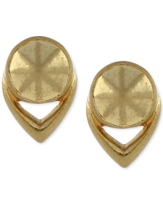 Vince Camuto | Metallic Gold-tone Round Stud Earrings | Lyst