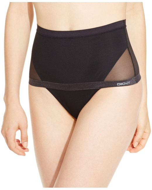DKNY | Black Mesh Light Wear Sheers Thong Dk1019 | Lyst