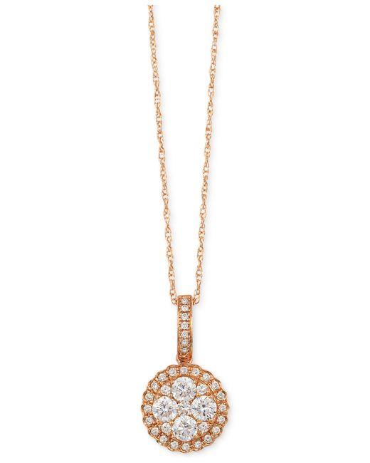 Le Vian | Metallic Diamond Circle Pendant Necklace (1/2 Ct. T.w.) In 14k Rose Gold | Lyst