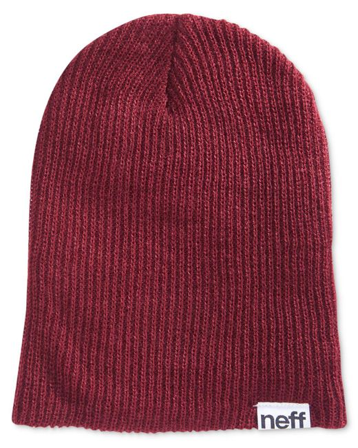 Neff | Red Men's Beanie Hat for Men | Lyst
