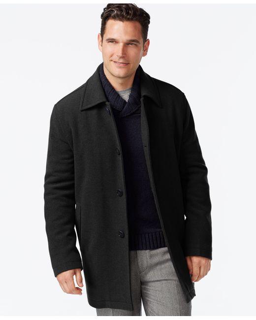 Cole Haan | Black Wool-blend Coat for Men | Lyst