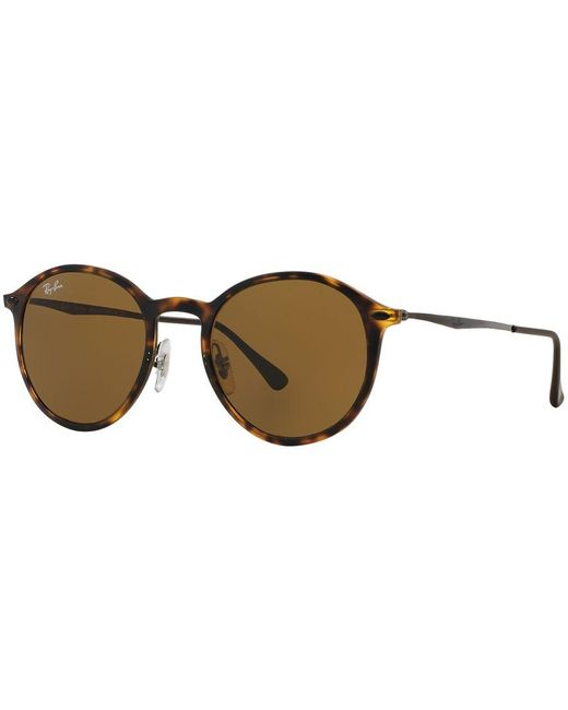 Ray-Ban | Brown Sunglasses, Rb4224 Round Light Ray | Lyst