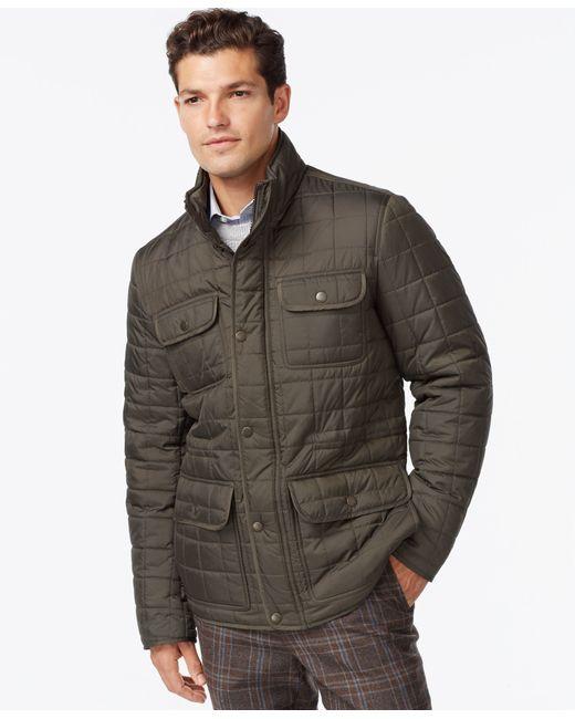 Tommy Hilfiger | Green Four-pocket Quilted Jacket for Men | Lyst