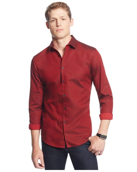 INC International Concepts | Red Joshua Non-iron Shirt for Men | Lyst